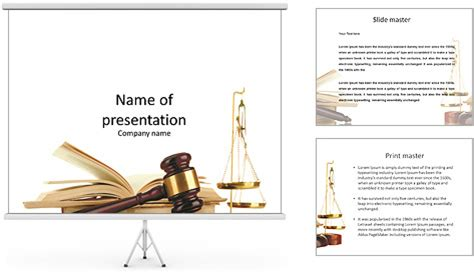 templates ppt law symbols law hammer book and a cup of equilibrium
