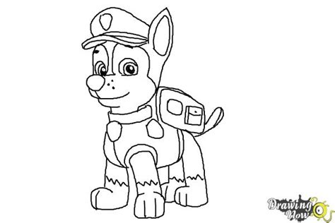 paw drawing free coloring pages of paw patrol