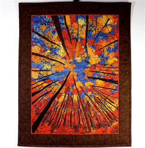 Quilt Wall Hanging by Quilted Wall Hanging Quilt Autumn Trees Original
