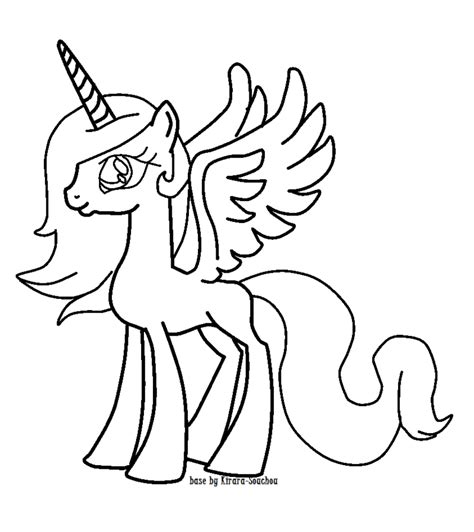 Alicorn Coloring Pages alicorn base coloring pages