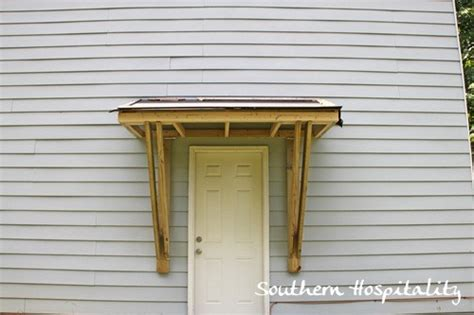 Porch Awnings Lowes House Renovations Week 10 Building A Door Roof Or How