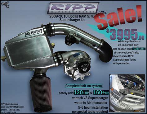 Dodge Ram 1500 Supercharger Ripp Sale 2009 2010 Ram 5 7 1500 2500