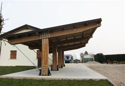 tettoia garage possente tettoia in legno per auto a tre posti modello