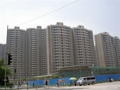 wohnungen in shanghai blick auf einen wohnkomplex in shanghai pudong diese