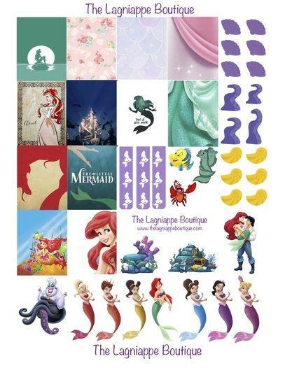 printable mermaid stickers disney s the little mermaid free weekly planner stickers