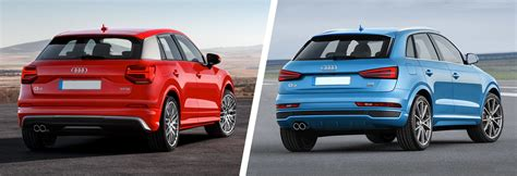 audi model comparison audi q2 vs q3 suv comparison carwow