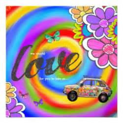 dye hippie invitations announcements zazzle co nz