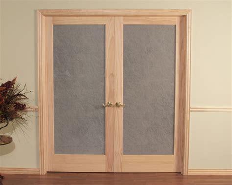 Opaque Double Prehung Passage Door Frosted Tempered Glass Opaque For Glass Doors