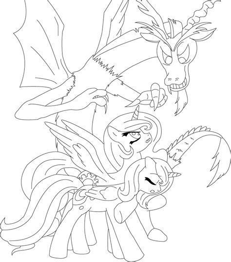 discord and the sisters coloring page by unknowncolt on