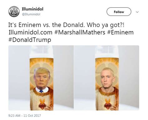 donald trump reacts to eminem twitter reacts to eminem s donald trump cypher with praise