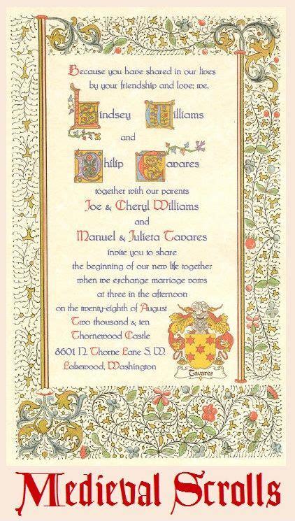 renaissance scroll wedding invitations 37 best wedding invites images on
