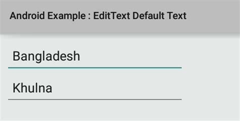 android default font how to set default text on edittext in android