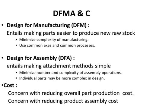 design for manufacturing review design review of any product system for manufacturing