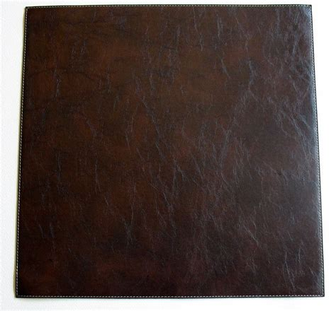 Brown Faux Leather by Brown Faux Leather Placemats Easy Care Wipeable Brown