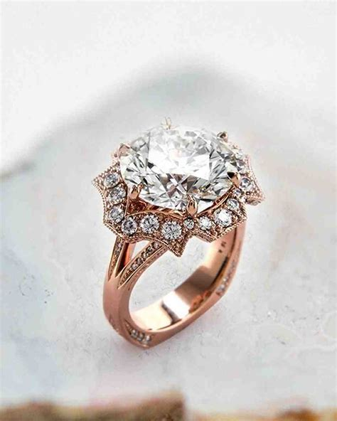 27 unique engagement rings you ll love martha stewart