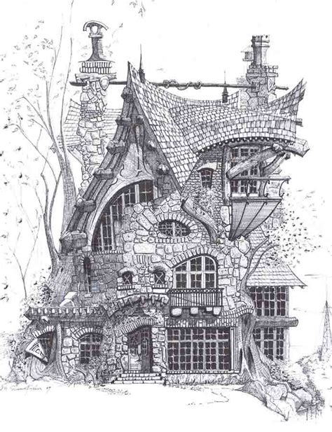 cabins in the woods grayscale coloring book books fyp visual communication jedidoodles