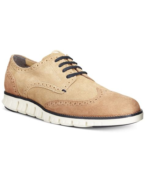 wingtip sneakers cole haan zerogrand suede wingtip sneakers in for