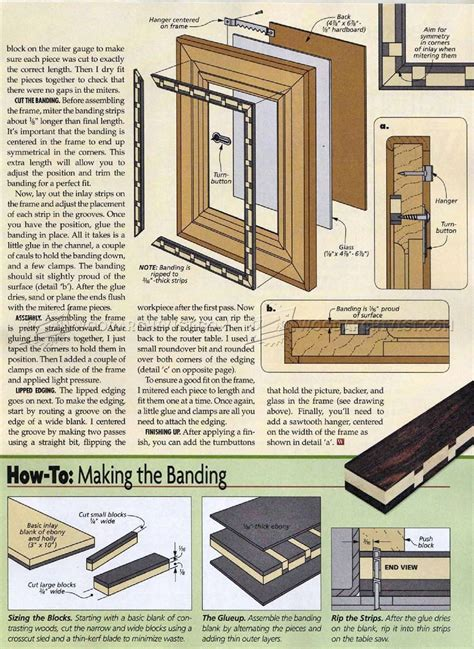 picture frame woodworking plans inlaid picture frame plan woodarchivist