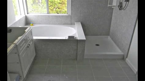 Marble Tile Bathroom Ideas by Tub Shower Combo Installation Pacific Coast Rebath Youtube
