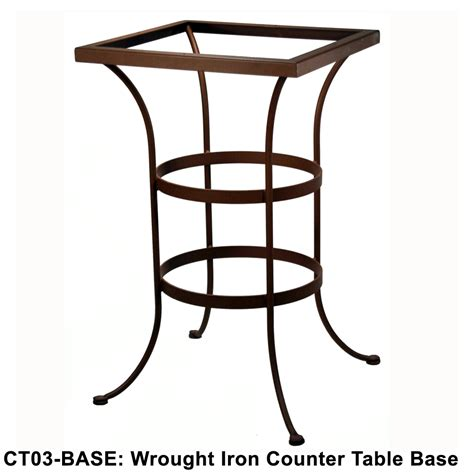 counter height table base ow standard wrought iron counter height table base ct03 base