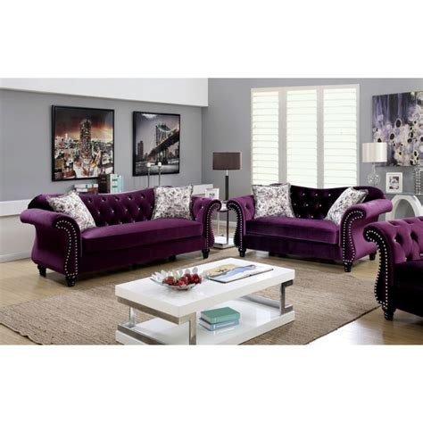 furniture of america living room collections tufted sofa sets coaster roy traditional on tufted sofa