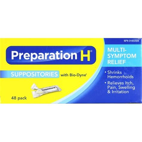 buy preparation h suppositories with bio dyne 48