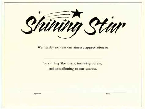 best photos of name a star certificate template name
