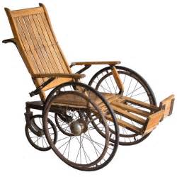 Steampunk Chair Antique Wooden Wheelchair At 1stdibs