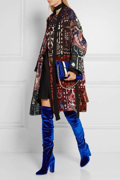 aquazzura thigh high velvet the knee boots net a