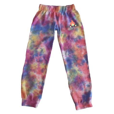 happy camper tie dye cozy sweatpants