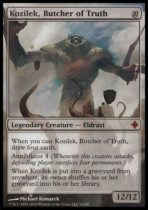 Eldrazi Deck Mtg by Kozilek Butcher Of Mm2 Mtg Card