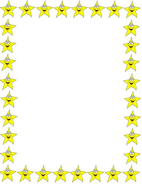 printable star frames back to school free printable border papers free wall