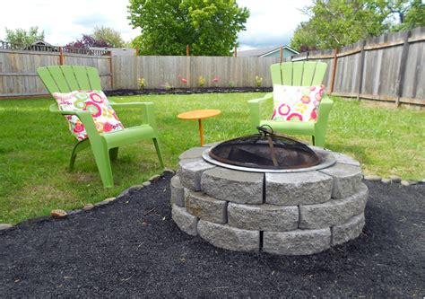 Abby Backyard Makeover Diy Crushed Rock Patio Diy Patio Pit