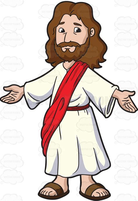 jesus clipart jesus opening his arms to welcome everyone vector