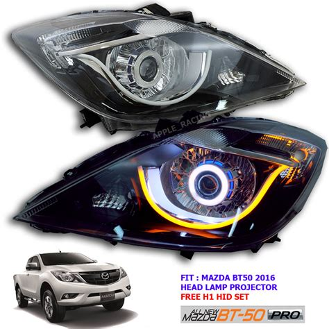 lift new mazda bt50 l light led projector