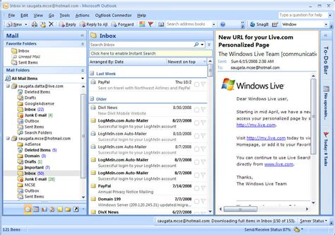 Microsoft Outlook Live Use Microsoft Office Outlook Connector For Live Mail