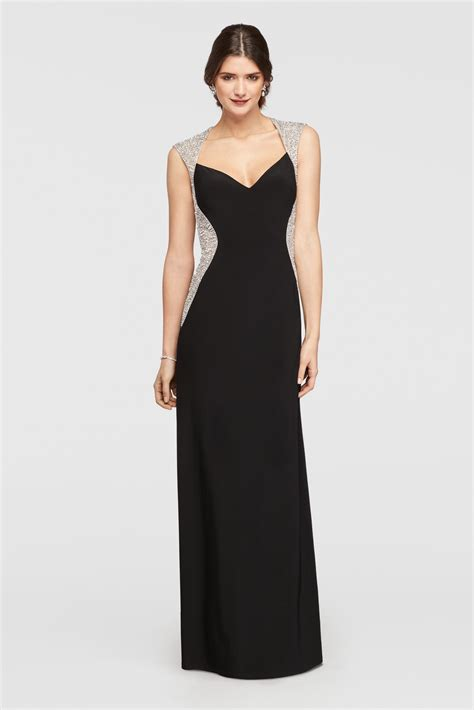 Dress Jersey Dress Jersey3 cap sleeve jersey dress with beaded details david s bridal