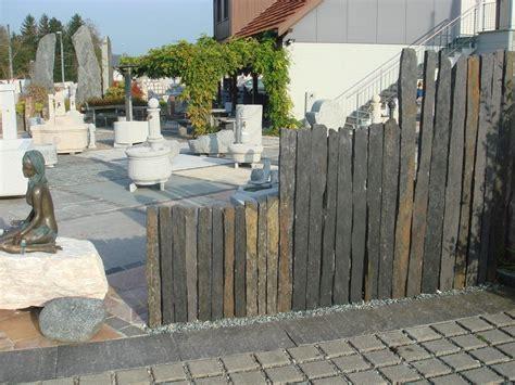 stein palisaden bauzentrum beckmann schiefer sandstein sichtschutz platten