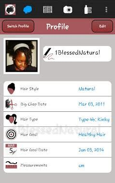 natural hairstyles app product review hair journal app