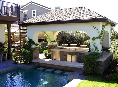 backyard pool bar swim up bar pro tips landscaping network