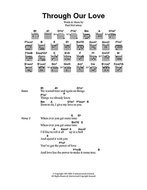 paul mccartney my lyrics through our sheet by paul mccartney lyrics
