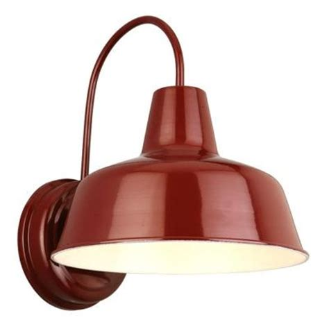 home depot barn light design house mason rlm red outdoor wall mount dark sky