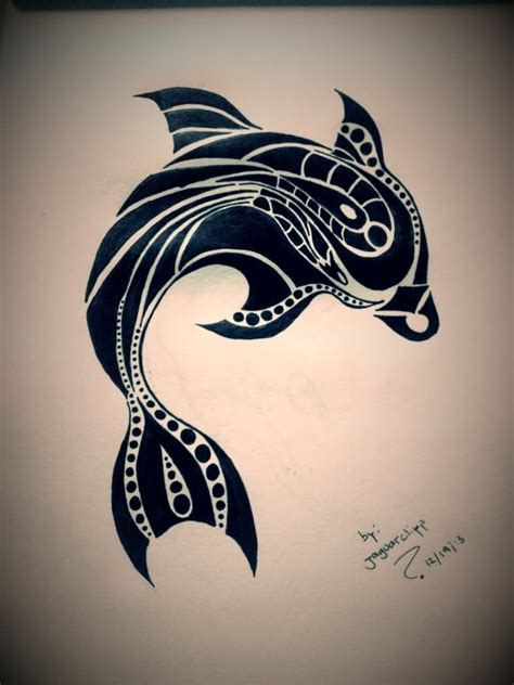 dolphin tribal tattoo dolphin images designs