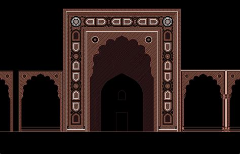 pattern islamic autocad indian islamic architectural designs on behance