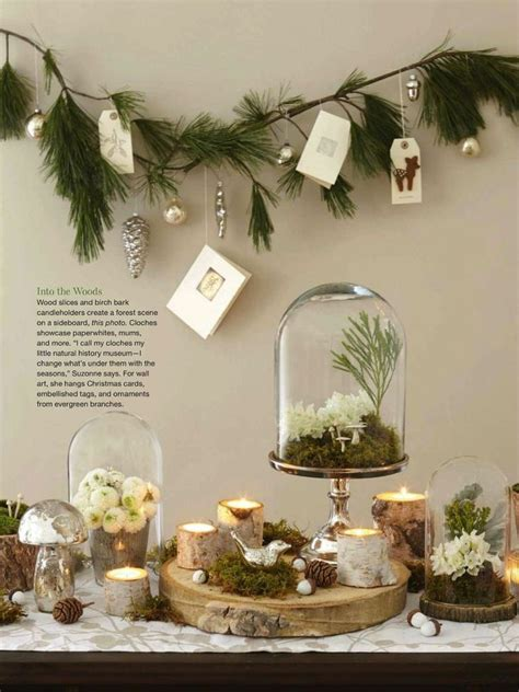 natural christmas table display christmas loves