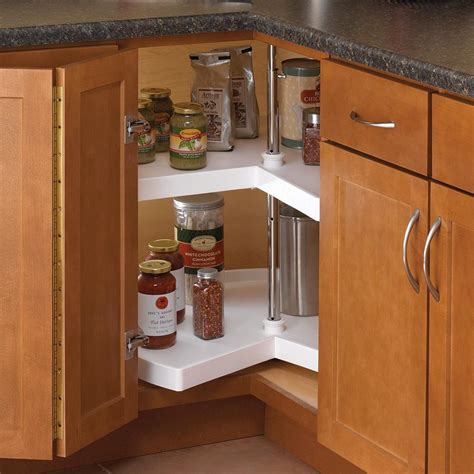 lazy susan organizer for kitchen cabinets knape vogt 31 5 in x 18 in x 18 in kidney shaped