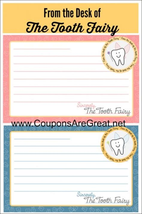 from the desk of stationary tooth fairy traditions free printable tooth fairy
