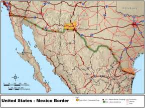 map of mexico border between usa and mexico