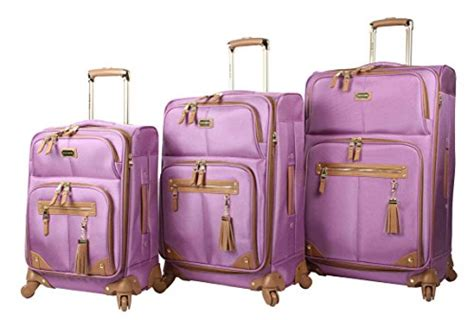 steve madden luggage 3 softside spinner suitcase set collection one size harlo purple