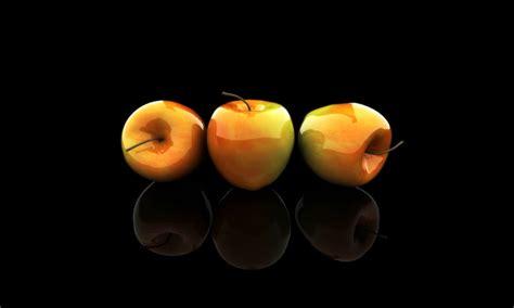 imagenes en fondo negro hd tres ricas manzanas mazanas fondo negro en hd fondos